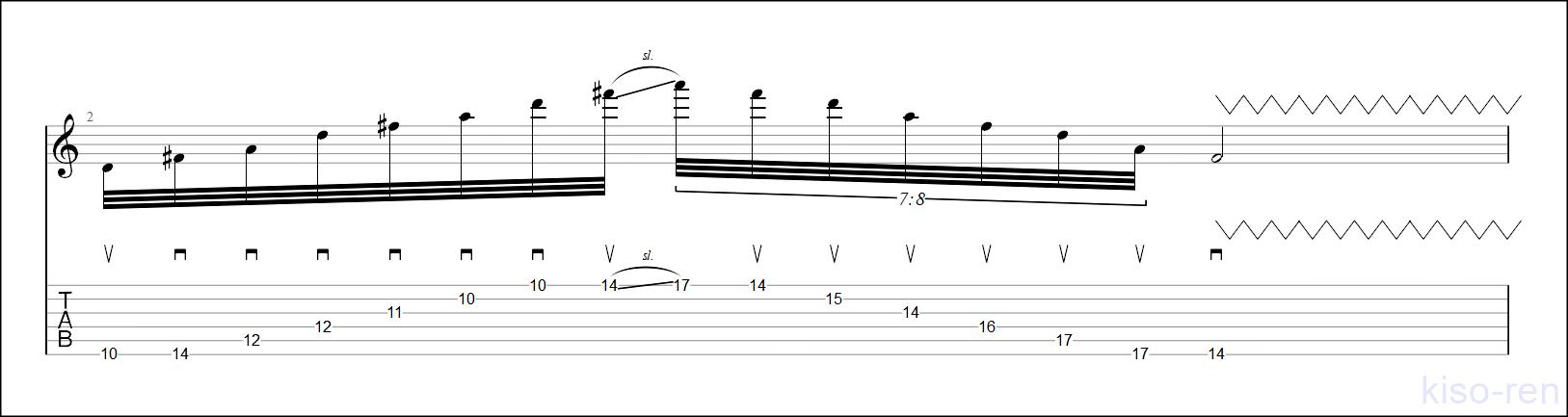D Sweep Picking【TAB】Big Sweep Picking John Petrucci  6弦スウィープピッキング ジョン・ペトルーシ 練習【Practice TAB】