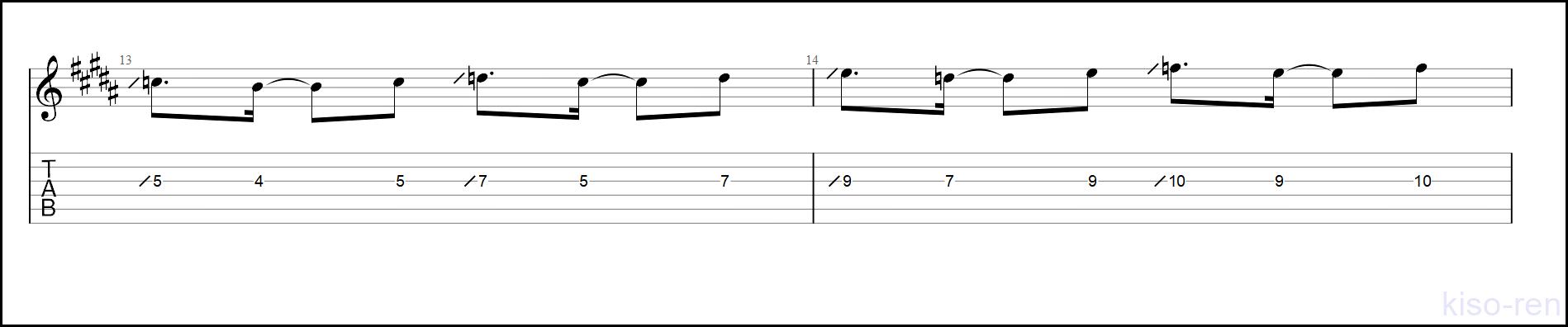 【TAB】紅(Kurenai) / X JAPAN Guitar solo hide+Pataのギターソロの練習【Picking ピッキング】