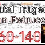 【TAB】Fatal Tragedy Guitar Solo / Dream Theater ドリームシアター ギターソロ 練習 John Petrucci Lesson【Picking/Fingering Regarto】