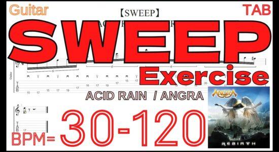 【SWEEP Exercise】ANGRA / ACID RAIN TAB Kiko Loureiro アングラ キコ・ルーレイロ スウィープピッキング練習