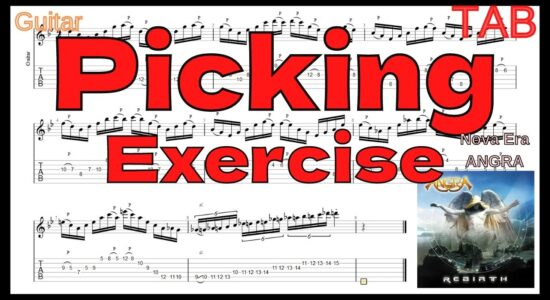 【PICKING Exercise】ANGRA / NOVA ERA TAB Kiko Loureiro アングラ キコ・ルーレイロ ピッキング練習【SKIPPING】